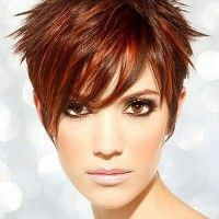 short spiky hair for women