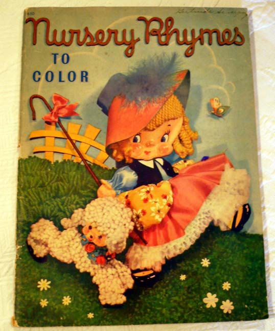 Vintage Coloring Book Nursery Rhymes To ColorUnused Sold By SarahsAtticStuff On Etsy