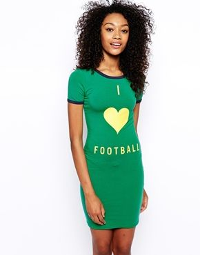 ASOS I Heart Football Dress; for them chicks who want a soccer player lol #futbol #soccer