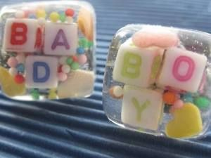 Resin 100'S AND 1000'S Candy Cuff Links Hand Made With Words BAD BOY | eBay