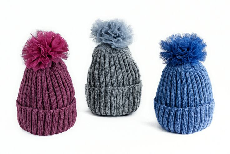 av Annina A/W 2013-2014 Frou Frou beanies, wool and tulle. http://www.avannina.fi #avannina #beanie #knitted #tulle