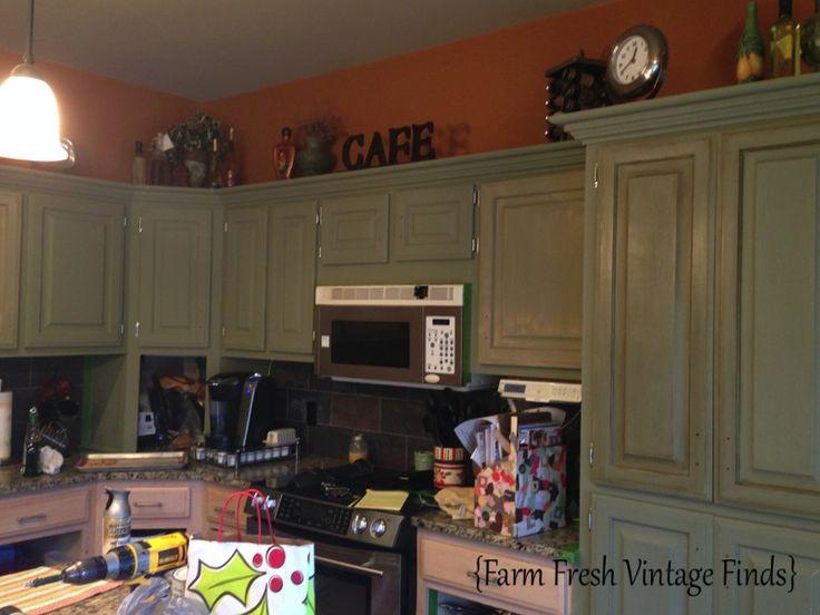 Vintage Oak Kitchen Cabinets