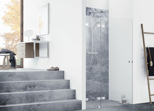 With AIR, Danish bathroom furniture designers Dansani have merged extreme minimalism and strict simplicity to create the perfect illusion of showering unscreened, well lit within the middle of the room – without any soaked furniture or cold draughts.