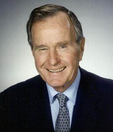 41st US President-  George H. W. Bush  Born: June 12, 1924, Milton, Massachusetts  Party: Republican  Age when inaugurated: 64  Term: 1989-1993. During Bush's term, the Soviet Union collapsed and the Cold War ended. He also led the U.S. in the 1991 Gulf War against Iraq. But economic troubles at home cost him his reelection bid.  Famous Fact: Bush was the first sitting Vice President to be elected President since Martin Van Buren.
