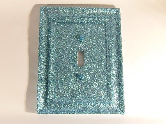 Turquoise Glitter light switch cover