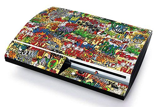 STICKERBOMB Skin Cover PS3 FAT HD limited edition DECAL COVER ADESIVA STICKER Playstation 3