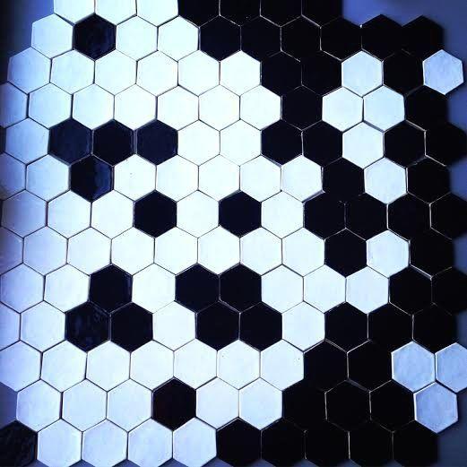kafle biało czarne heksagony w DEKORNIA na DaWanda.com