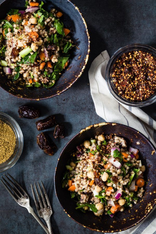 Around spring, when the weather starts getting warmer I like investing more time making salads rather than cooking. A few days back I made another salad using buckwheat but this Moroccan buckwheat sal