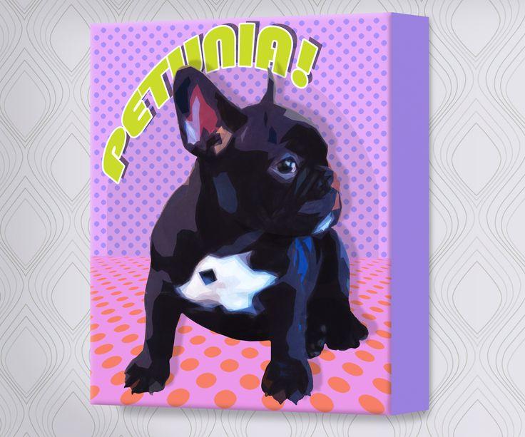 Pup Art on canvas looks amazing too!