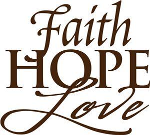 View Design 35313 Faith Hope Love Vinyl Phrase Faith