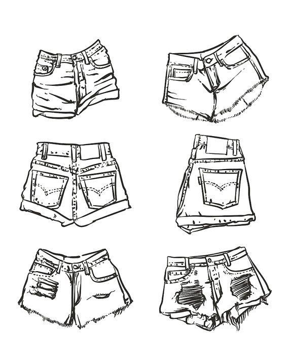 Прикольные рисунки в шортах