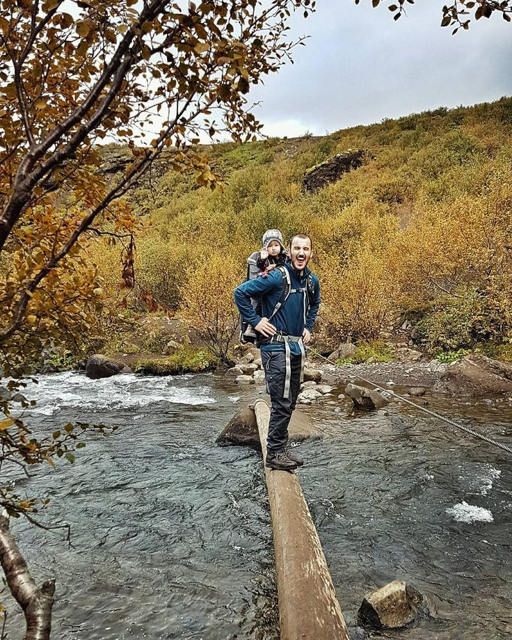 River crossing on the hike to Glymur, Iceland's second tallest waterfall.