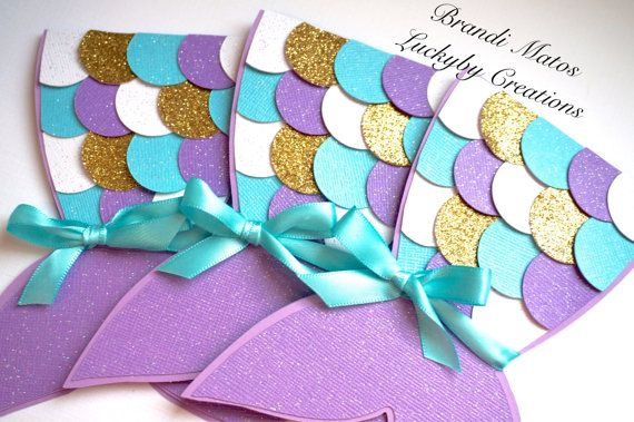 Mermaid InvitationsMermaid invitation mermaid by LuckyByCreations