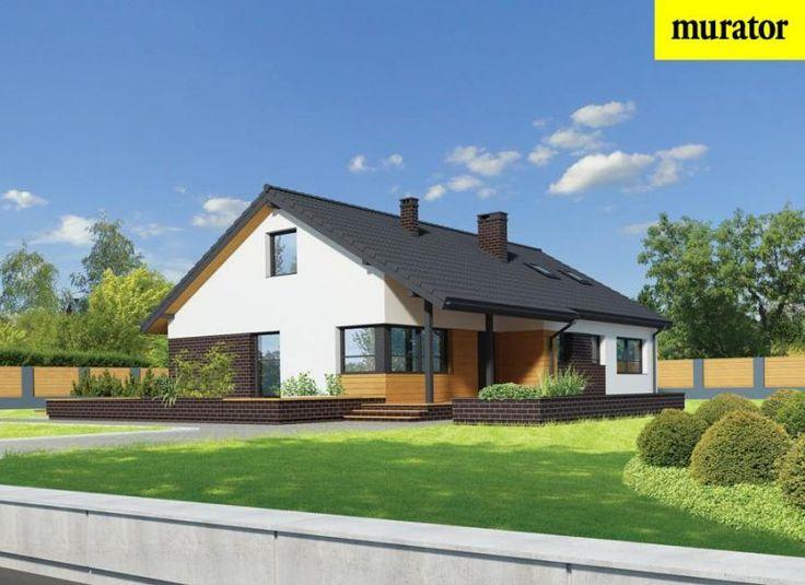 Проект одноэтажного дома с мансардой  - Муратор Ц334