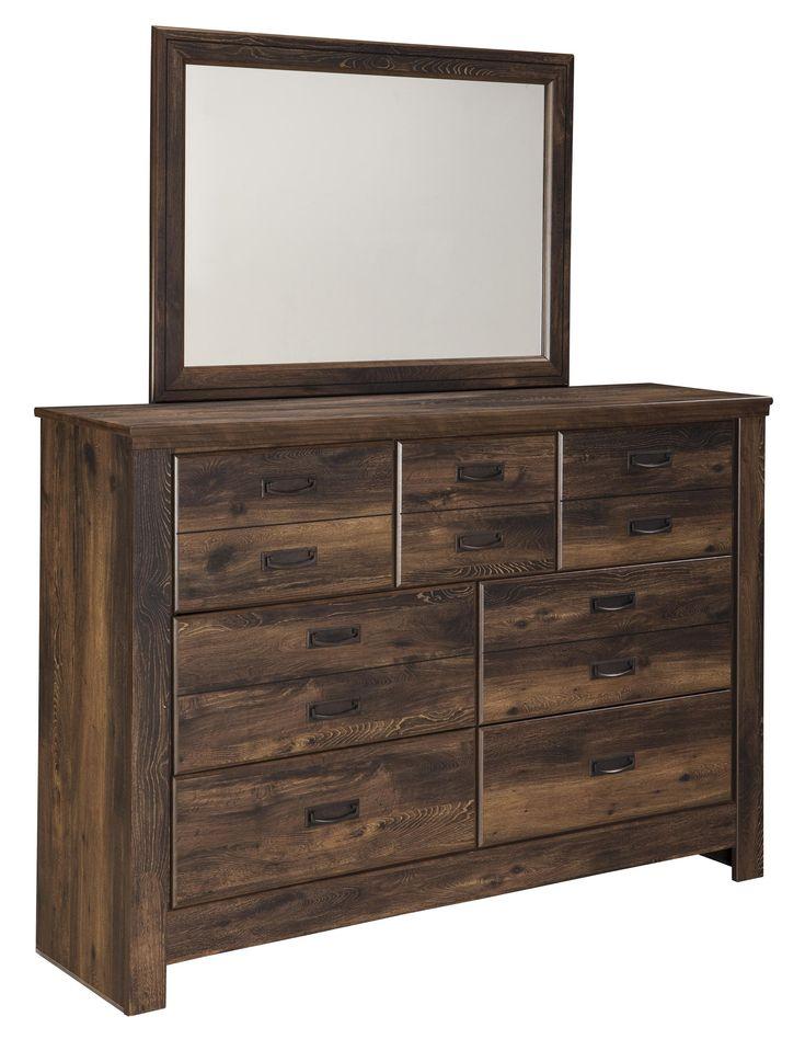 Signature Design by Ashley Quinden Rustic Dresser with 7 Drawers - Furniture Mart Colorado - Dresser Denver, Northern Colorado, Fort Morgan, Sterling, CO