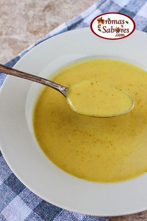 Sopa de inhame com curry