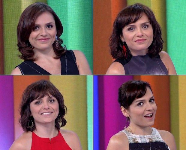 Cabelo curto e com franja? Inspire-se em corte e penteados de Monica Iozzi →   #redeglobo #gshow #hair #beleza #penteados #cortes #franjas #cabelocurto