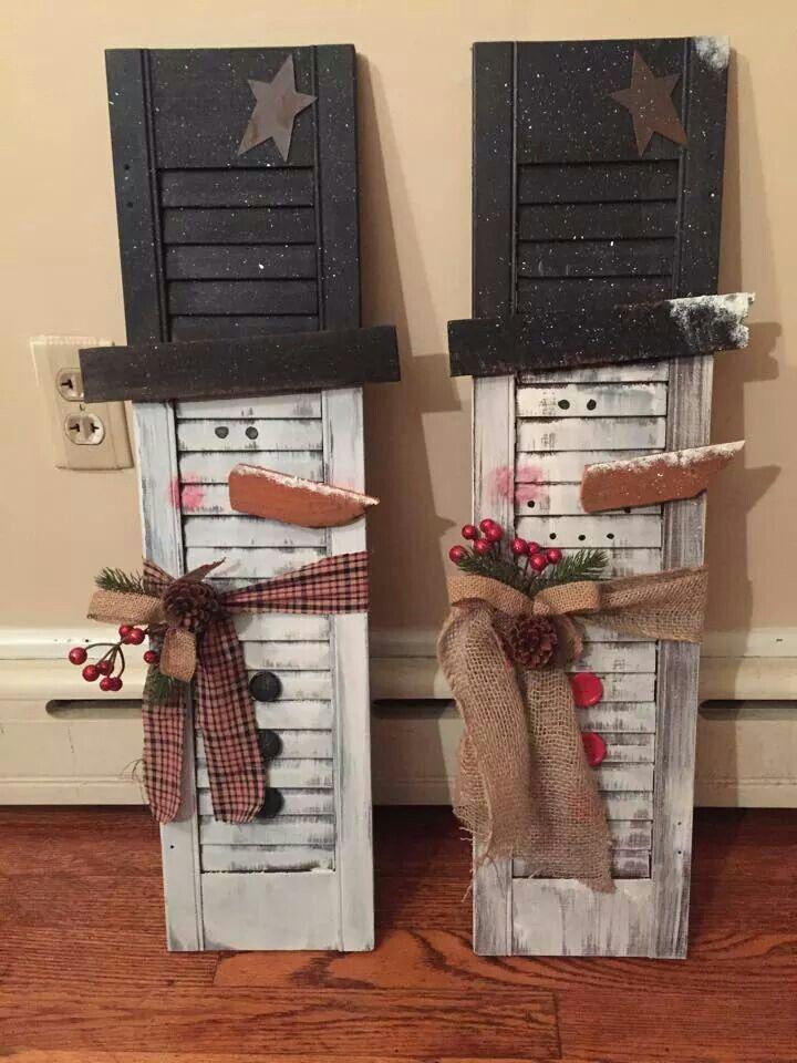 Snowman Shutters Too Cute Christmas Crafts