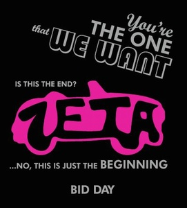 Zeta Tau Alpha Grease Bid Day theme. This poster is everything and more. Get inspired by movies for bid day. #ZTA