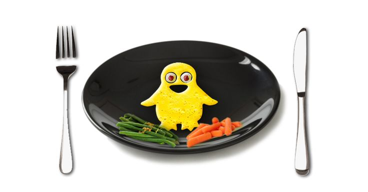 Fun breakfast Penguin shape egg for your kids