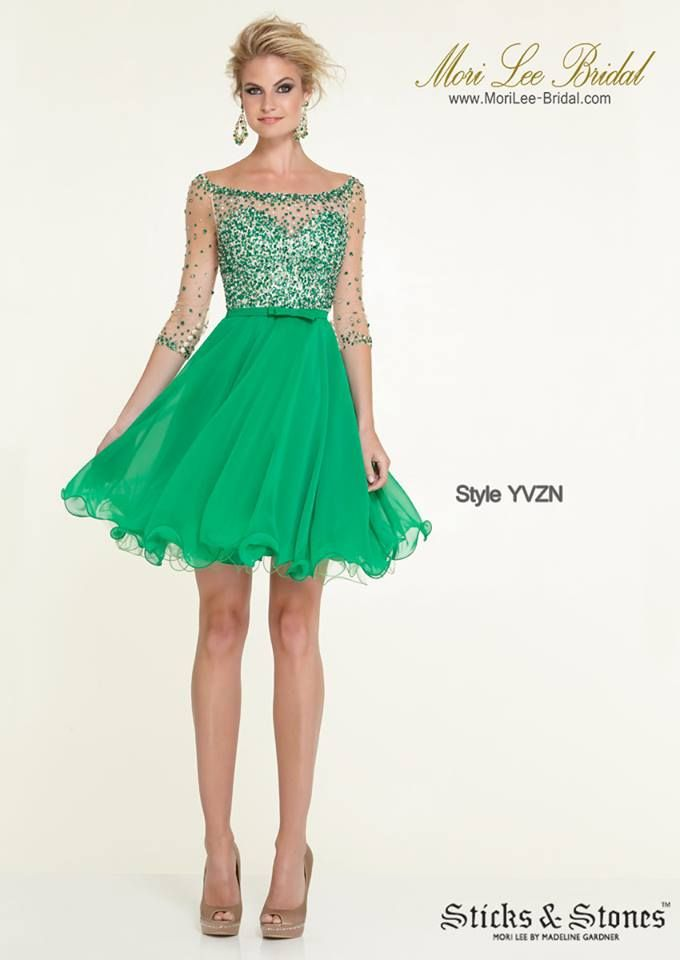 Style YVZN  BEADED NET ON CHIFFON Zipper Back Closure. Available in Gold, Emerald Precio: $1.065.350 Pesos Colombianos Precio: $484.00 Dolares Americanos