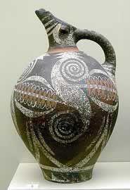 Ceramika kreteńska: Kamares 2100-1700 BC, Ośmiornica 1500 BC, Styl Morski 1500 BC, okres popałacowy 1390-1100 BC