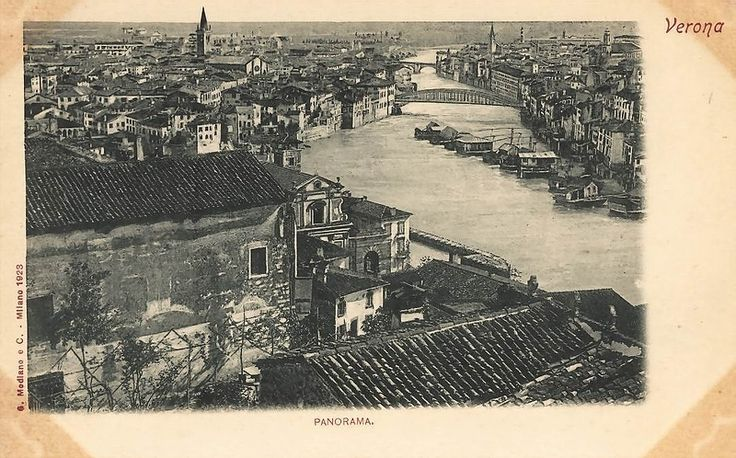 Verona - Panorama 1880 ca