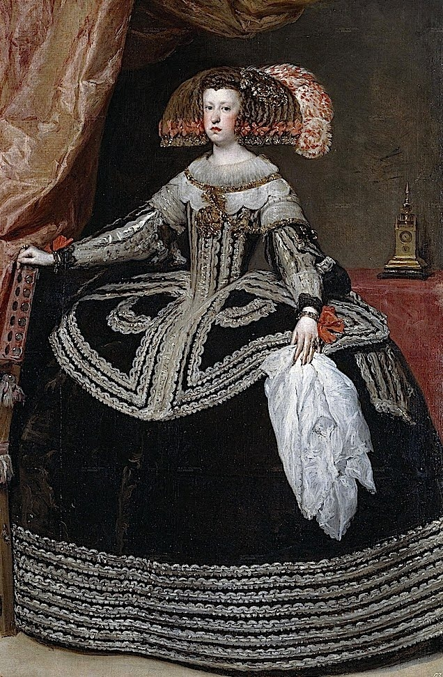 Mariana of Austria, Queen of Spain by Diego Velasquez