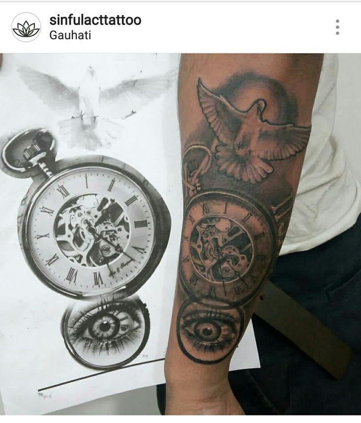 Vintage watch tattoo