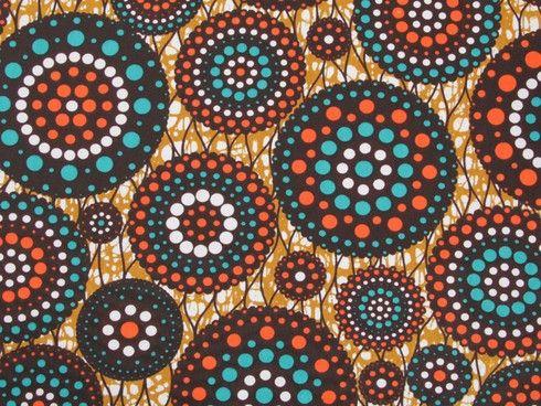 Wax print cotton dress fabric