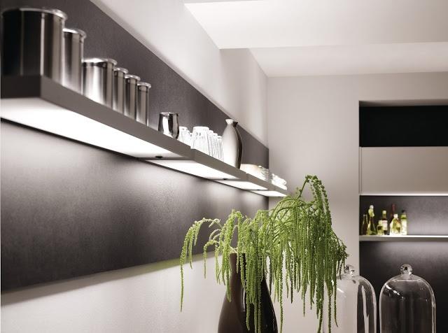 eclairage tagre design avec ide dco pour cuisine moderne kitchen dco moderne pinterest cuisine design - Etagere Cuisine Moderne