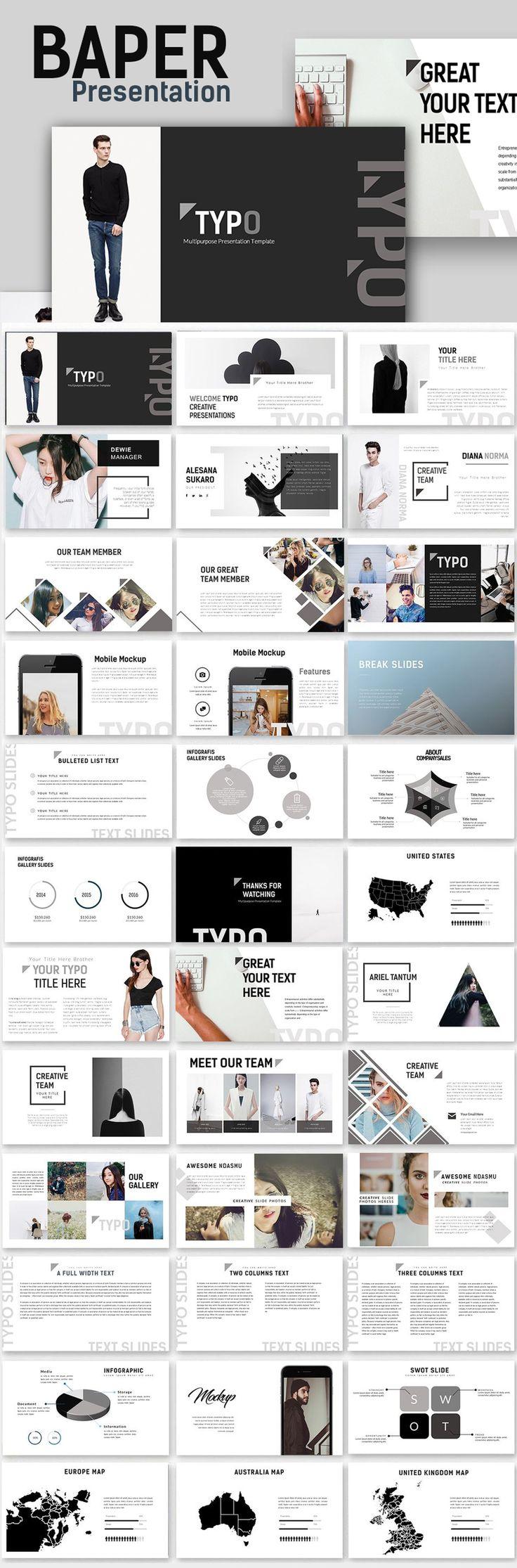 1131 best creative presentation ideas images on pinterest creative typo creative minimal powerpoint template toneelgroepblik Choice Image