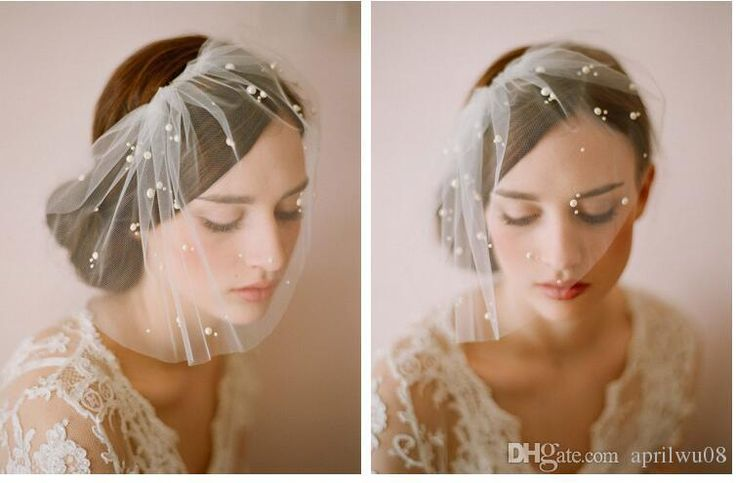 Fashion Birdcage Veils 2016 New Cover Face 1 Tier White Ivory Pearls Bridal Tiaras Short Birdcage Veil Comb For Short Wedding Bridal Veils Brides Veil Bubble Veil From Aprilwu08, $9.85| Dhgate.Com