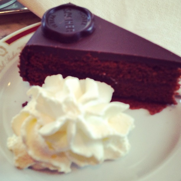 Sacher Tort at Hotel Sacher