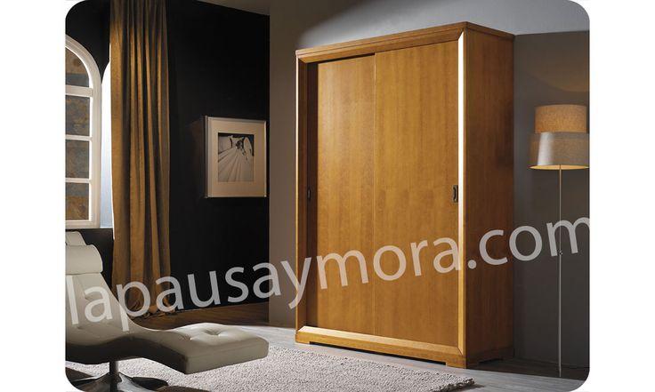 Mueble de dormitorio de Lapausa y Mora, colección Giorno. Composición 05 con acabado en Cerezo envejecido (29).