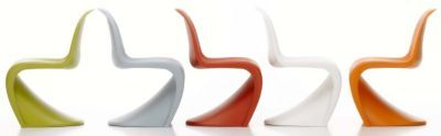 Panton Chair (1999) by Vitra.  Loving these chairs