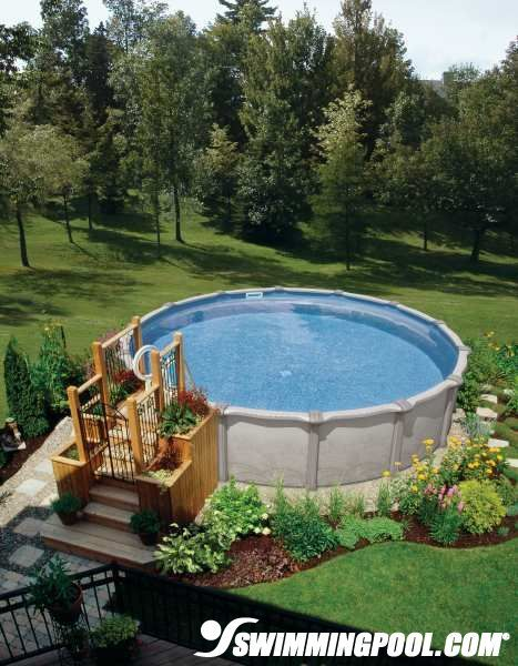 Backyard Landscaping Around Above Ground Pool : Best images about above ground pool on dorm