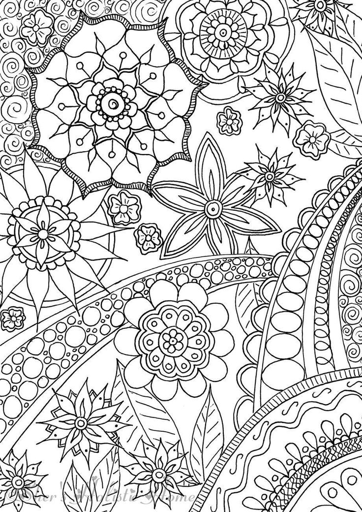 Floral burst colouring page...available at my Etsy shop.