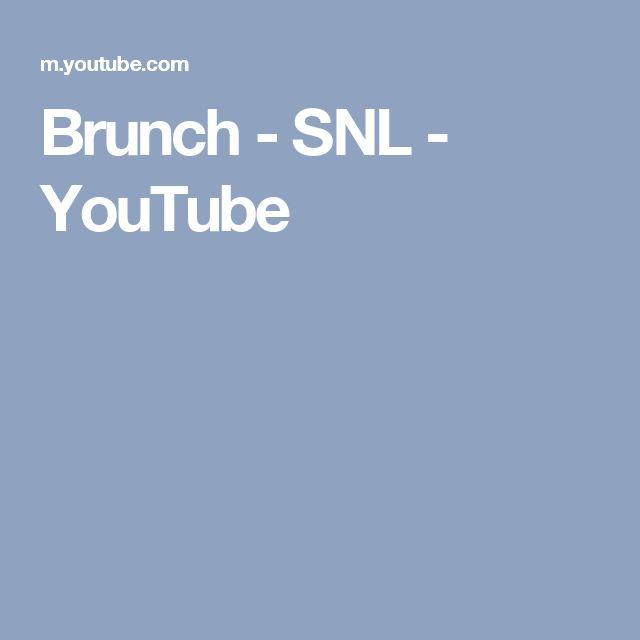 Brunch - SNL - YouTube