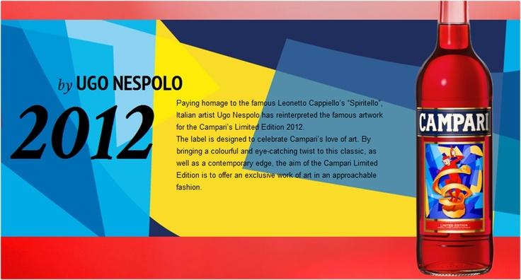 #Campari Limited Edition 2012 designed by #Ugo #Nespolo.
