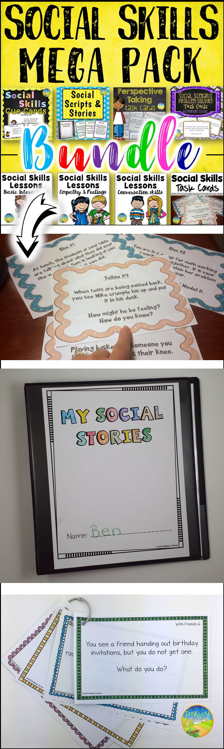 Social skills resources including lesson plans, activities, task cards, scripts and more.