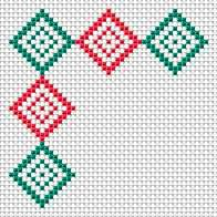 Decorative edge, embroidery, free cross stitch patterns and charts - www.free-cross-stitch.rucniprace.cz
