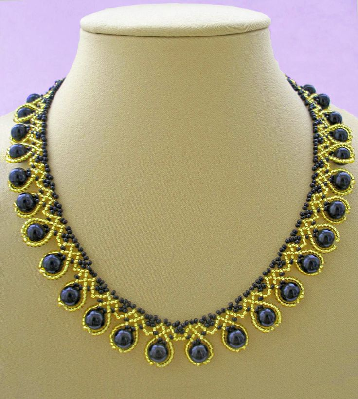 Free pattern for necklace Ra  Click on link to get pattern - http://beadsmagic.com/?p=4494