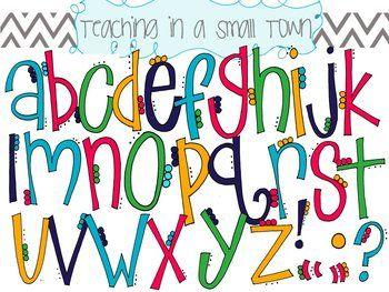 Alphabet Flower Petals Clip Art
