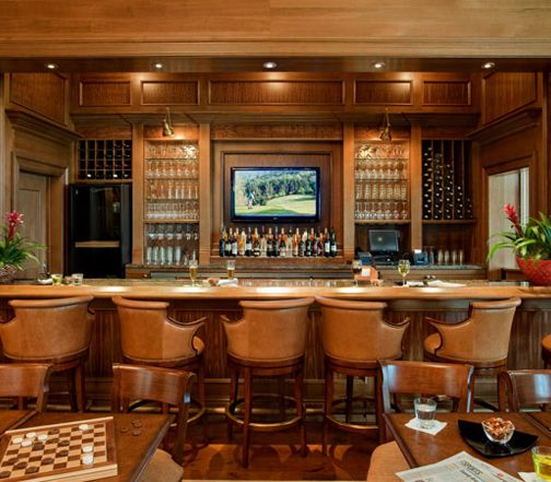 Traditional High End Bar. Dining Room ...