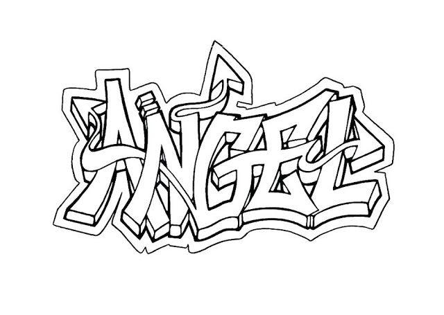 Graffiti Coloring Pages Angel Graffiti Bilder Graffiti Schrift Graffiti