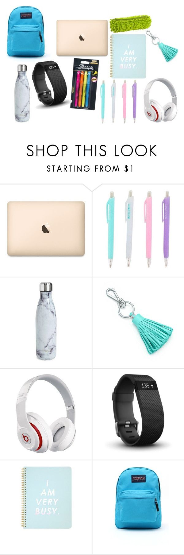 """""""school set 2"""" by smithylol on Polyvore featuring interior, interiors, interior design, home, home decor, interior decorating, Sharpie, S'well, Tiffany & Co. and Beats by Dr. Dre"""
