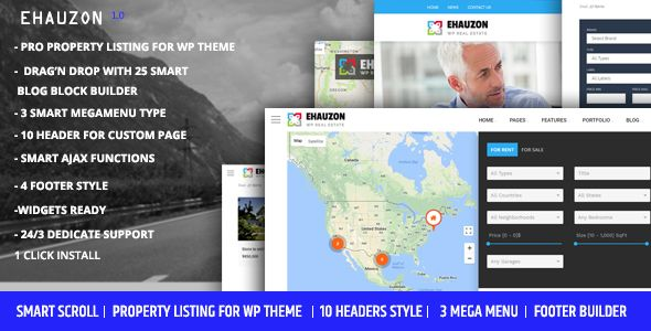 Ehauzon - Property Listing for #WordPress #Theme - Real Estate WordPress