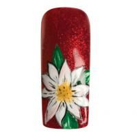 "Nail Art How To: ""Poinsettia Petals"" Time: 10 min per nailSuggested Price: $5 per nail"