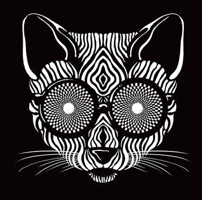 Hypnotic Kitty is hypnotize you  (Art Print)